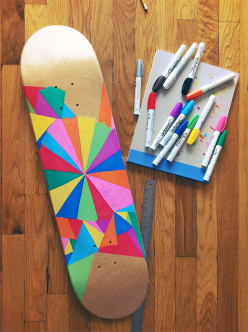 Skateboard Ideas Part - 20: Hand Painted Skateboards Jamie Tao